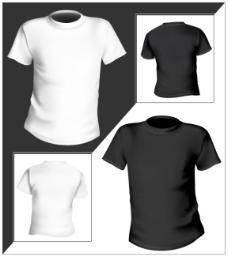 精致空白T恤 矢量图