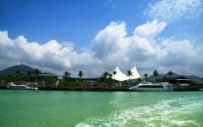 海南风光 蓝天白云图片
