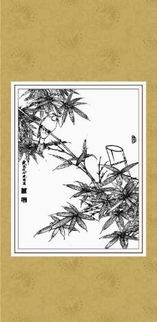 竹报平安图片