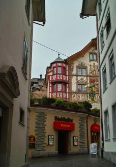 瑞士 琉森 小街風情图片