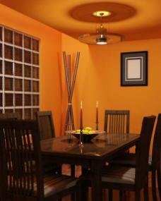 橘色浪漫 橘色主题餐厅场景图片