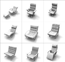 9款办公椅模型图片