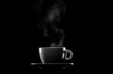 热气 茶杯 黑色咖啡杯