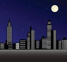 夜幕下的城市圖片