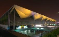 上海世博园 世博主题馆及夜景图片