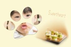 水果甜心可爱儿童相框图片