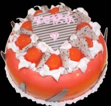 水果忌廉生日蛋糕图片