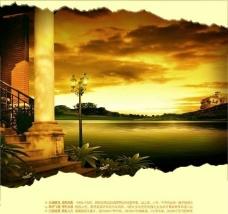 欧式风情 湖景 地产 形象图片