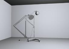 落地灯模型图片
